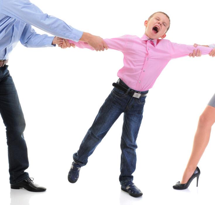 Papás en desacuerdo